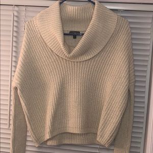 Express cowl neck ivory sweater